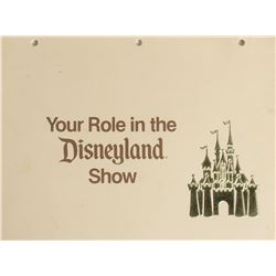 """Your Role in the Disneyland Show"" Cast Member Book."