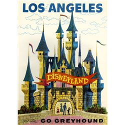 """Go Greyhound"" Disneyland Travel Poster."