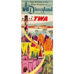 TWA Airlines Disneyland Brochure.