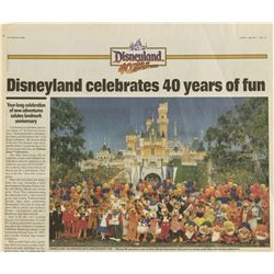 Los Angeles Times Disneyland 40th Anniversary Issue.
