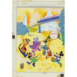 Original Painting for Disneyland Activity Book.