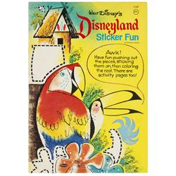 """Disneyland Sticker Fun"" & ""Color By Number"" Books."