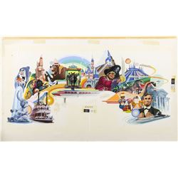 Original Painting of Disneyland Attractions.