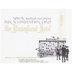 """Fun N' Convention Land"" Disneyland Hotel Pamphlet."