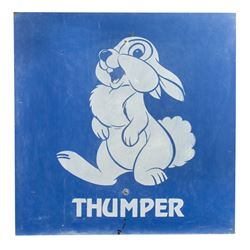 Thumper Disneyland Parking Lot Sign.
