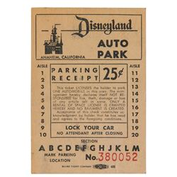 "Disneyland ""Auto Park"" Ticket."