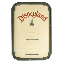 """Welcome to Disneyland"" Entrance Sign."