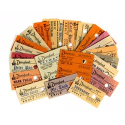 Collection of (25) Disneyland Ticket Book Stubs.