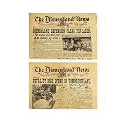 Collection of (4) Issues of  The Disneyland News .