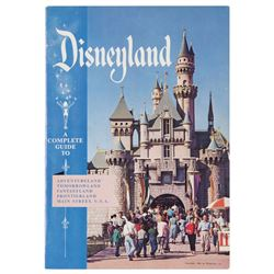 Disneyland 1956 Guidebook with Mailing Envelope.