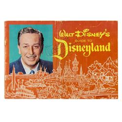 Walt Disney Signed Disneyland Guidebook.