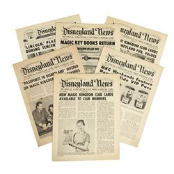 Collection of (6) Issues of  Disneyland News .
