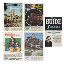 Collection of (5) INA Disneyland Guidebooks.