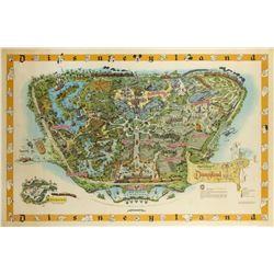 Never-Folded 1958-C Disneyland Map.