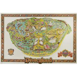 1989 Disneyland Map.