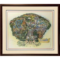 Signed 45th Anniversary Disneyland Map.