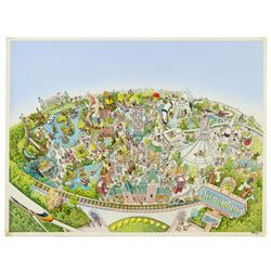 Original Disneyland Map Painting.