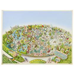Original Disneyland Map Painting.