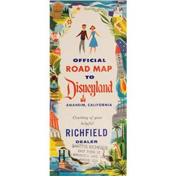 "Richfield Oil ""Road Map to Disneyland""."