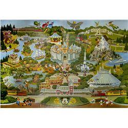 Large Disneyland Map Wallpaper.