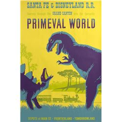 """Primeval World"" Attraction Poster."