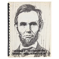 """Great Moments with Mr. Lincoln"" Premiere Manual."