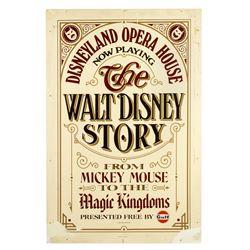"""The Walt Disney Story"" Opera House Sign."