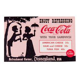 """Coca-Cola """"Refreshment Corner"""" Flyer."""
