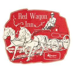 Swift's  Red Wagon Inn  Die-Cut Child's Menu.