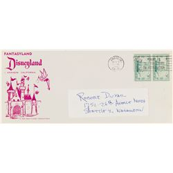 Pair of Disneyland Souvenir Letters.