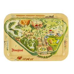 Disneyland Map Tin Litho Tray.