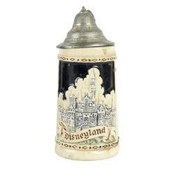 """Sleeping Beauty Castle"" German Stein with Lid."