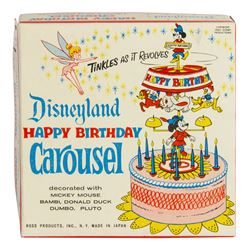 "Disneyland ""Happy Birthday Carousel"" in Box."