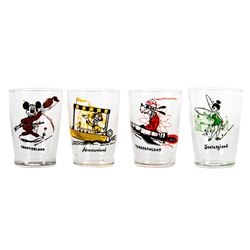 Collection of (4) Disneyland Land-Themed Glasses.