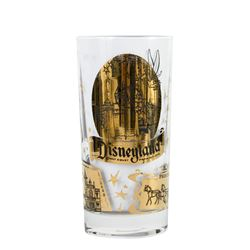 Gold-Tone Disneyland Souvenir Drinking Glass.