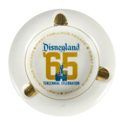 Disneyland Tencennial Celebration Ashtray.