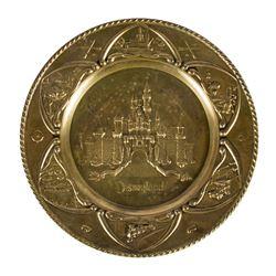 Souvenir Disneyland Brass Platter.