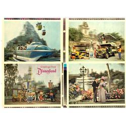 Uncut Proof for Disneyland 3-D Postcards.