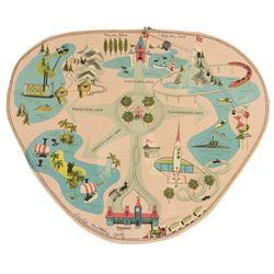 Die-Cut 3d Disneyland Map Placemat by Hallmark.