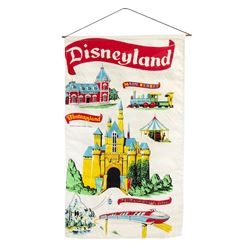 Pair of Disneyland Hanging Tapestries.