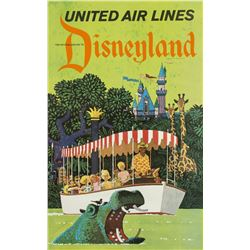 United Air Lines Disneyland Travel Poster.