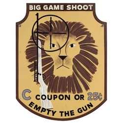 """Big Game Safari Shooting Gallery"" Sign."