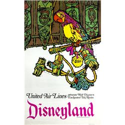 "United Air Lines ""Enchanted Tiki Room"" Attraction Poster."