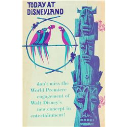 """Today at Disneyland"" Tiki Room Opening Gate-Flyer."