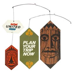 "United Air Lines ""Enchanted Tiki Room"" Mobile Display."
