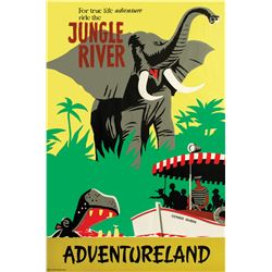 """Jungle River"" Attraction Poster."