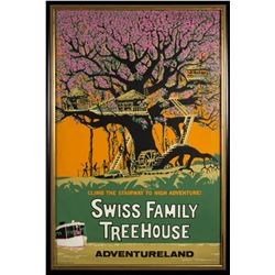 """Swiss Family Treehouse"" Attraction Poster."