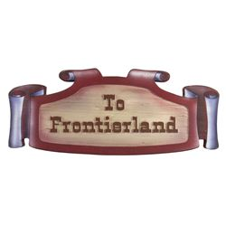 """To Frontierland"" Hidden Passage Sign."