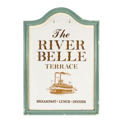 The River Belle Terrace Entrance Sign.