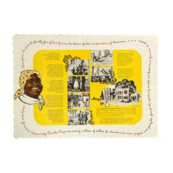 """Aunt Jemima's Kitchen"" Placemat."
